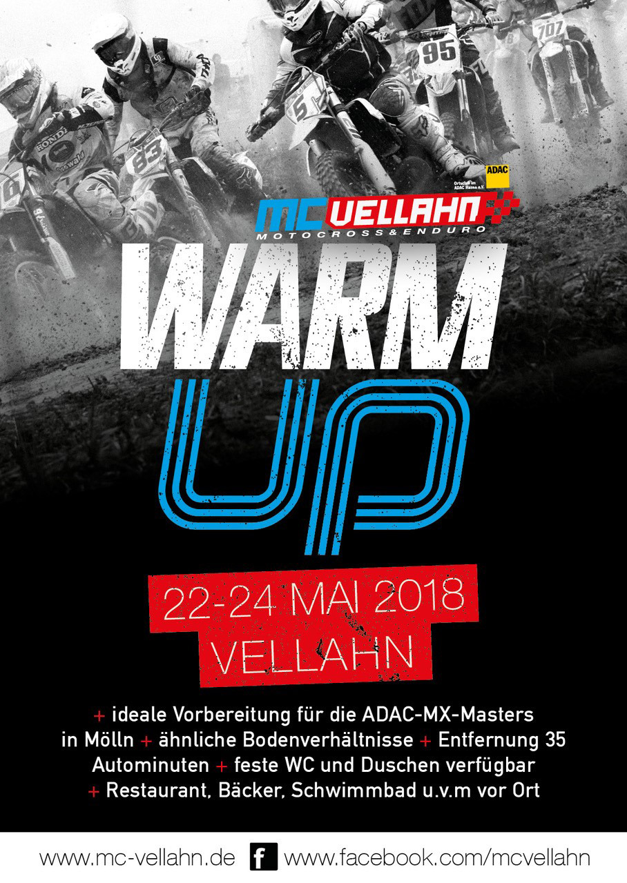 Flyer Front ADAC MX Masters Warm-Up